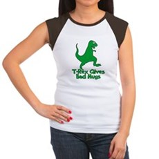 T-Rex Gives Bad Hugs Womens Cap Sleeve T-Shirt