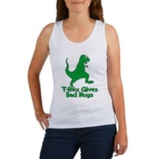 T-Rex Gives Bad Hugs Womens Tank Top