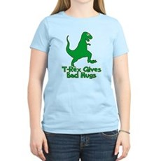 T-Rex Gives Bad Hugs Womens Light T-Shirt