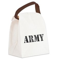 army_white-vintage Canvas Lunch Bag