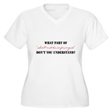 Shall Not Be Infringed Womens Plus Size V-Neck T-