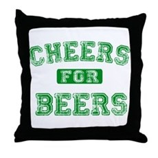Cheers for Beers Throw Pillow