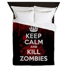 Keep Calm and Kill Zombies Queen Duvet