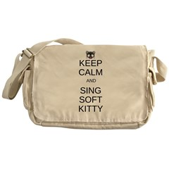 Keep Calm Soft Kitty Messenger Bag