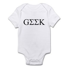 Geek in Greek Letters Infant Bodysuit
