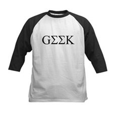Geek in Greek Letters Kids Baseball Jersey
