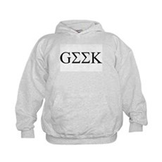 Geek in Greek Letters Kids Hoodie