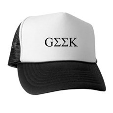 Geek in Greek Letters Trucker Hat