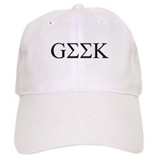 Geek in Greek Letters Cap