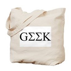 Geek in Greek Letters Tote Bag