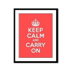 Keep Calm and Carry On Pink Framed Poster