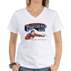 Confidence Man! Women's V-Neck T-Shirt