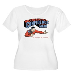 Confidence Man! Women's Plus Size Scoop Neck T-Shi
