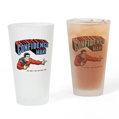 Confidence Man! Drinking Glass