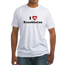 I Love [Heart] Kazakhstan Fitted T-Shirt