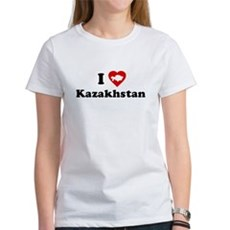 I Love [Heart] Kazakhstan Womens T-Shirt