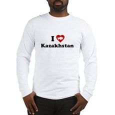 I Love [Heart] Kazakhstan Long Sleeve T-Shirt