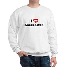I Love [Heart] Kazakhstan Sweatshirt