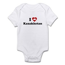 I Love [Heart] Kazakhstan Infant Bodysuit
