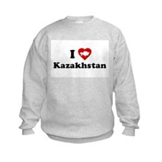 I Love [Heart] Kazakhstan Kids Sweatshirt