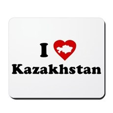 I Love [Heart] Kazakhstan Mousepad