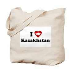 I Love [Heart] Kazakhstan Tote Bag