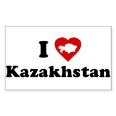 I Love [Heart] Kazakhstan Rectangle Sticker