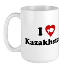 I Love [Heart] Kazakhstan Large Mug