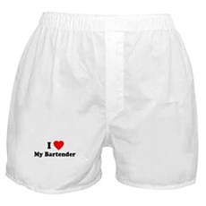I Love [Heart] My Bartender Boxer Shorts