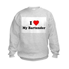 I Love [Heart] My Bartender Kids Sweatshirt