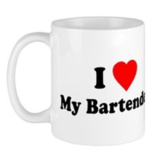 I Love [Heart] My Bartender Mug