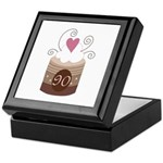 90th Birthday Cupcake Keepsake Box
