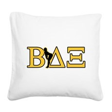 Beta House Fraternity Square Canvas Pillow
