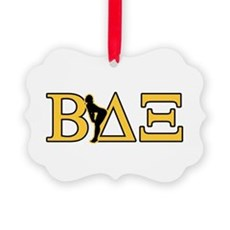 Beta House Fraternity Picture Ornament