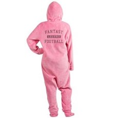 FANTASYFOOTBALLLEGEND copy Footed Pajamas