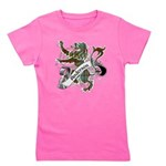 Anderson Tartan Lion Girl's Tee - Scottish lion rampant with the Anderson clan tartan and a banner with the family name. - Availble Sizes:Small,Medium,Large,X-Large,X-Small - Availble Colors: Black,Raspberry,Aqua