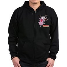 Courage the Cowardly Dog Zip Hoodie