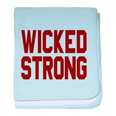 Wicked Strong Boston baby blanket