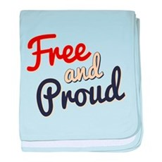 Free and Proud baby blanket