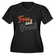Free and Proud Plus Size T-Shirt