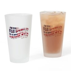 Star Spangled Hammered Drinking Glass