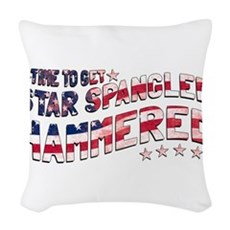 Star Spangled Hammered Woven Throw Pillow