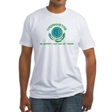 Kazakhstan - We Support Your Fitted T-Shirt