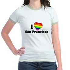 I Love [Heart] San Francisco Jr Ringer T-Shirt