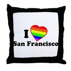 I Love [Heart] San Francisco Throw Pillow