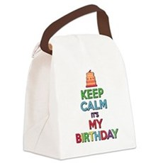 Keep Calm Its My Birthday Canvas Lunch Bag