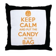 Keep Calm Candy Bag Throw Pillow