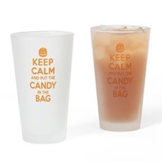 Keep Calm Candy Bag Drinking Glass