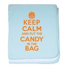 Keep Calm Candy Bag baby blanket