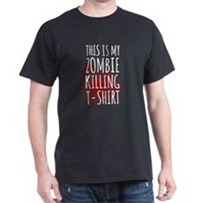 Funny Halloween This is My Zombie Killing T-Shirt